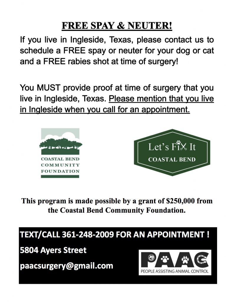Spay & Neuter Flyer