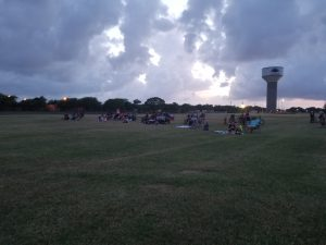 Movie in the Park at Dusk