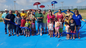 Splash Pad Ribbon Cutting Ceremony