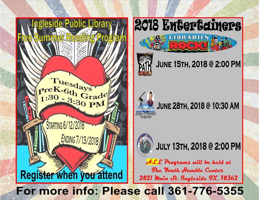 Summer Reading Program Flyer 2018